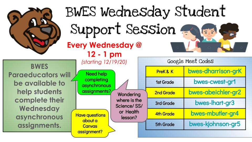 Student Support Session